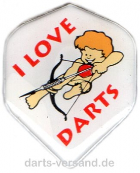 Pin / Button 'I LOVE DARTS'