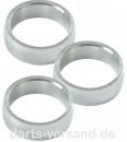 Slot-Lock Alloy Rings   -   silber
